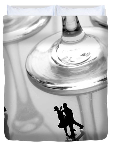 Dancing among glass cups Duvet Cover by Paul Ge