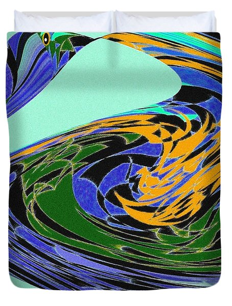 Dancing Goose Duvet Cover by Will Borden