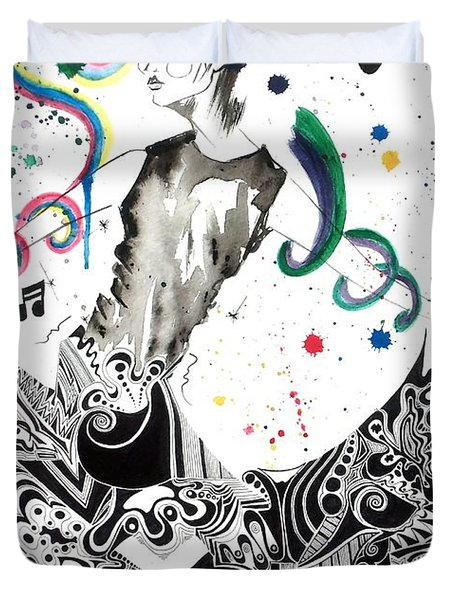 Dancing In Berlin Duvet Cover by Oddball Art Co by Lizzy Love
