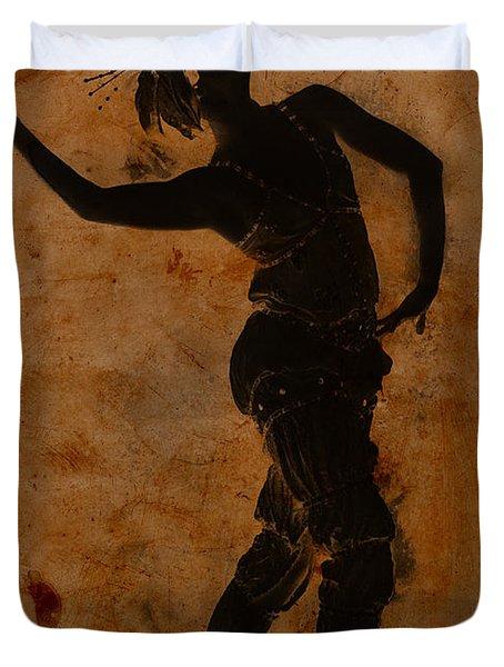 Dancing In Greek Duvet Cover by Sarah Vernon