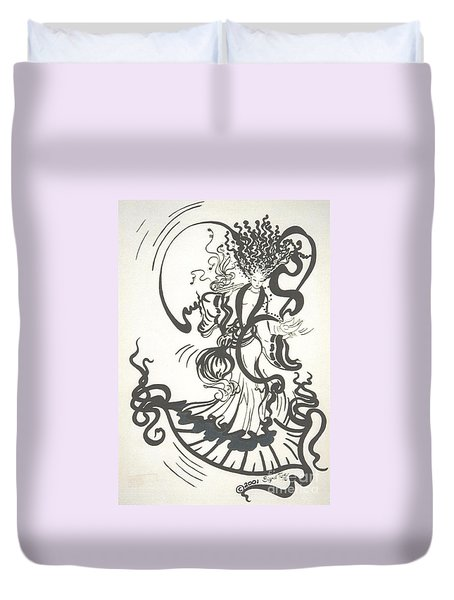 Dancing With the Muse Duvet Cover by Sigrid Tune