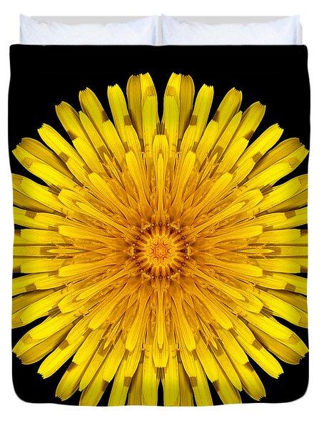 Dandelion Flower Mandala Duvet Cover by David J Bookbinder