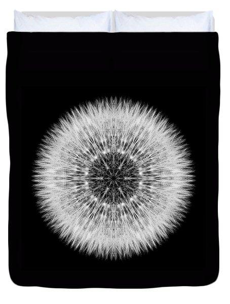 Dandelion Head Flower Mandala Duvet Cover by David J Bookbinder