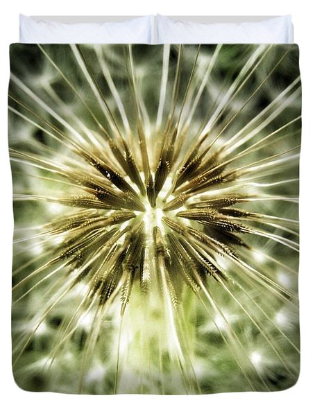 Dandelion Seeds Duvet Cover by Marianna Mills