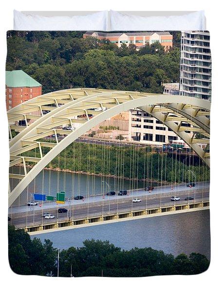 Daniel Carter Beard Bridge Cincinnati Ohio Duvet Cover by Paul Velgos