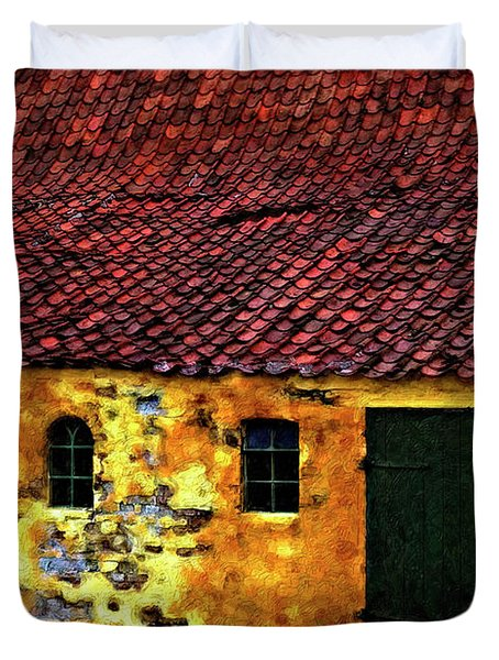 Danish Barn impasto version Duvet Cover by Steve Harrington