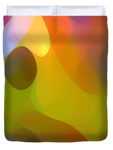Dappled Light Panoramic Vertical 3 Duvet Cover by Amy Vangsgard