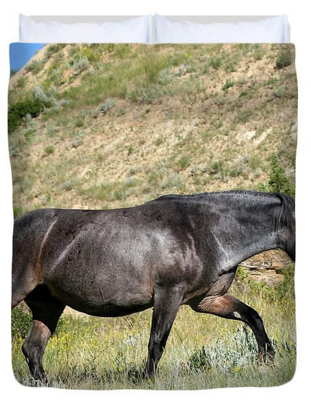 Dark and Wild Horse Duvet Cover by Sabrina L Ryan