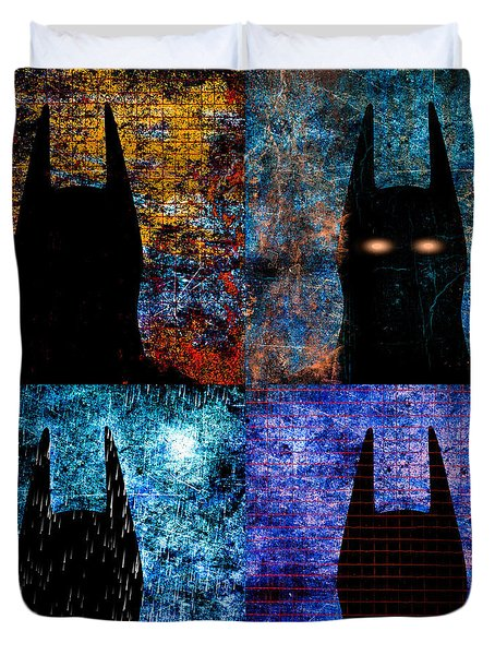 Dark Knight Number 5 Duvet Cover by Bob Orsillo