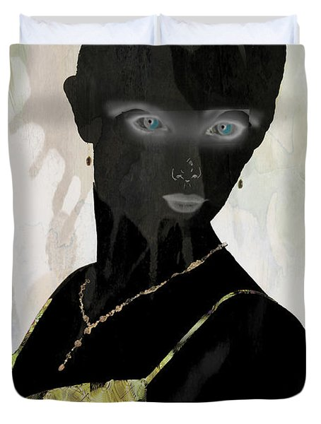 Dark Vision - Featured On Comfortable Art And A Place For All Groups Duvet Cover by EricaMaxine  Price