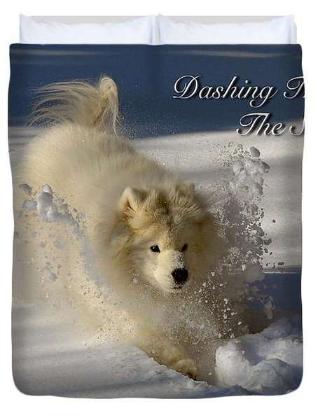 Dashing Through The Snow Duvet Cover by Lois Bryan