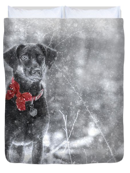 Dashing Through the Snow Duvet Cover by Lori Deiter