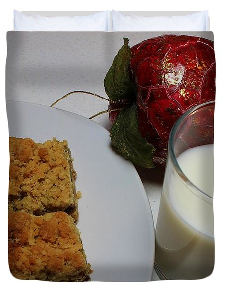 Date Squares - Snack - Dessert - Milk Duvet Cover by Barbara Griffin