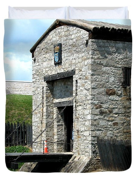 Dauphin Battery And Gate Of The Five Nations Old Fort Niagara 2 Duvet Cover by Rose Santuci-Sofranko
