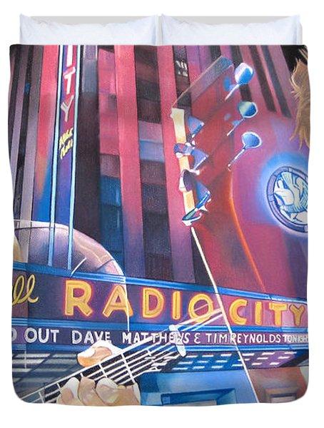 Dave matthews and Tim Reynolds at Radio City Duvet Cover by Joshua Morton