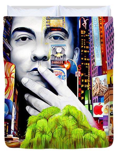 Dave Matthews Dreaming Tree Duvet Cover by Joshua Morton