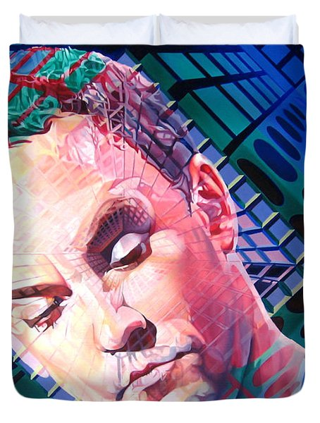 Dave Matthews Open Up My Head Duvet Cover by Joshua Morton