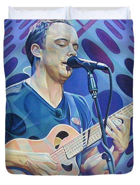 Dave Matthews Pop-Op Series Duvet Cover by Joshua Morton