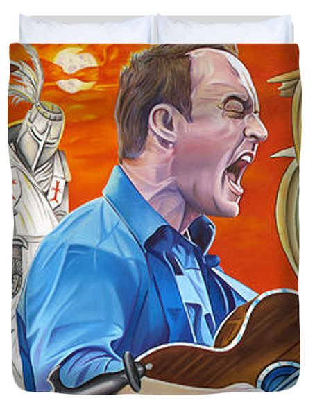 Dave Matthews The Last Stop Duvet Cover by Joshua Morton