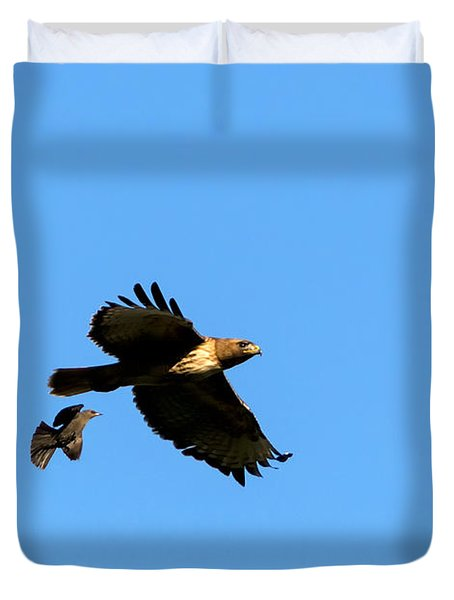 David And Goliath Duvet Cover by Mike  Dawson