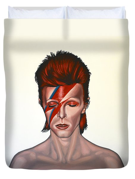 David Bowie Aladdin Sane Duvet Cover by Paul Meijering