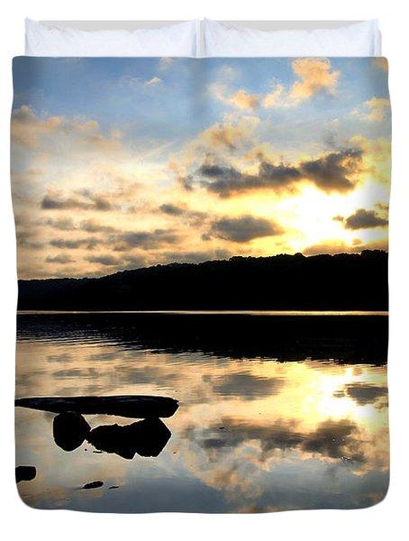 Dawn Breaks Duvet Cover by Karol Livote