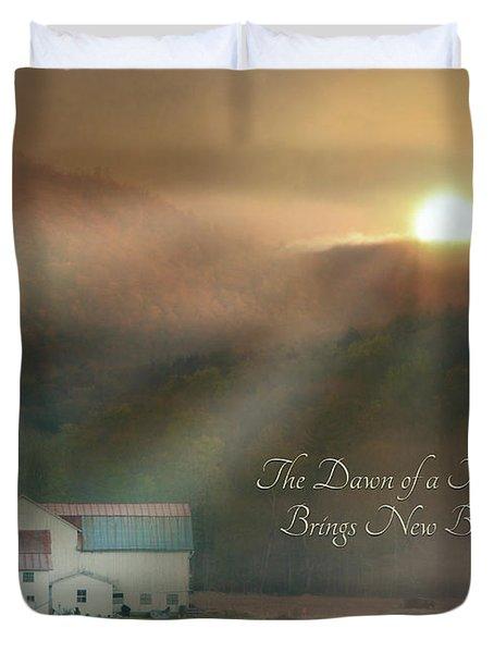 Dawn Duvet Cover by Lori Deiter