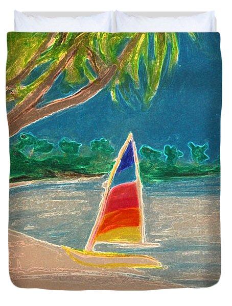 Day Sailer Duvet Cover by First Star Art