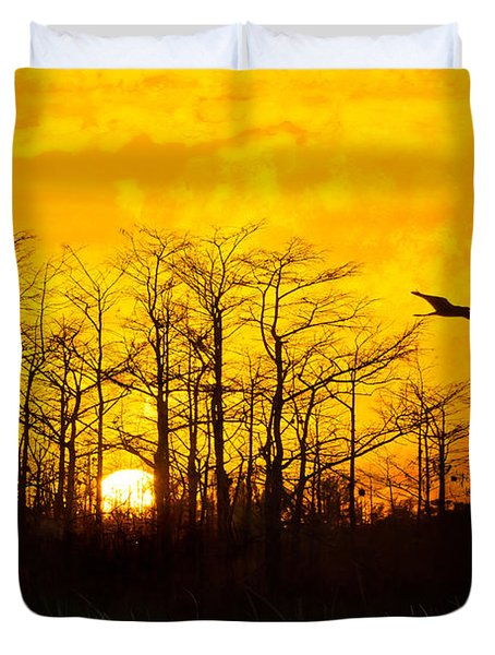 Day's End Duvet Cover by Debra and Dave Vanderlaan