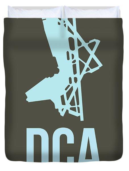 Dca Washington Airport Poster 1 Duvet Cover by Naxart Studio