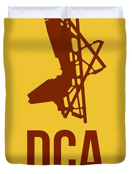 Dca Washington Airport Poster 3 Duvet Cover by Naxart Studio