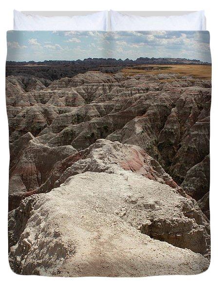 Dead End Trail In Badland National Park South Dakota Duvet Cover by Adam Long
