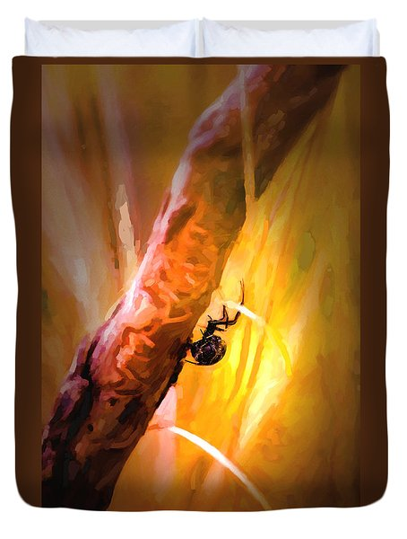 Deadly Duvet Cover by Jon Burch Photography