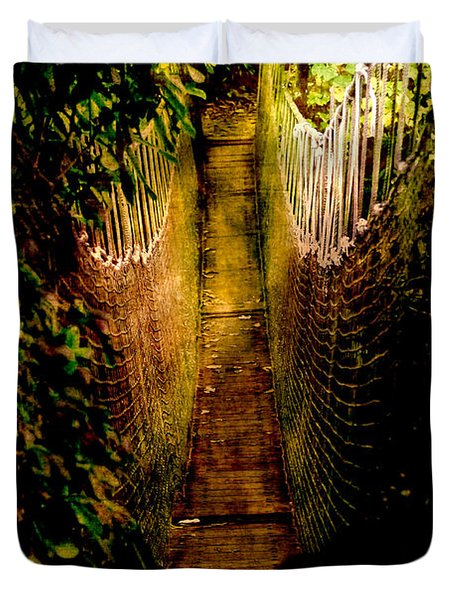 Deadly Path Duvet Cover by Loriental Photography