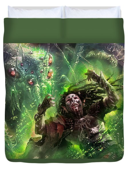 Death's Presence Duvet Cover by Ryan Barger
