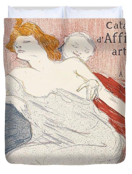 Debauche Deuxieme Planche Duvet Cover by Henri de Toulouse-Lautrec