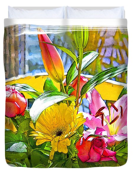 December Flowers Duvet Cover by Chuck Staley