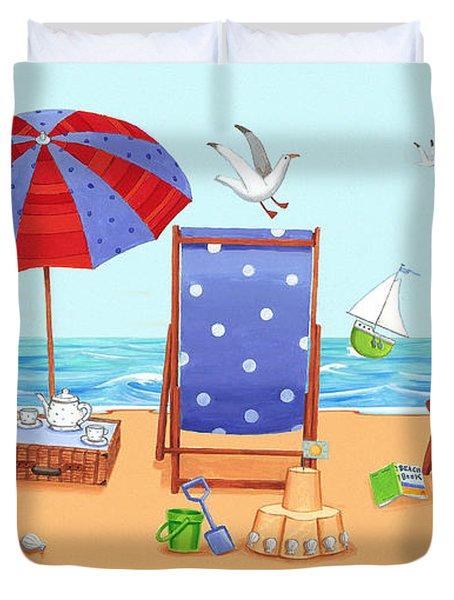 Deckchairs Duvet Cover by Peter Adderley