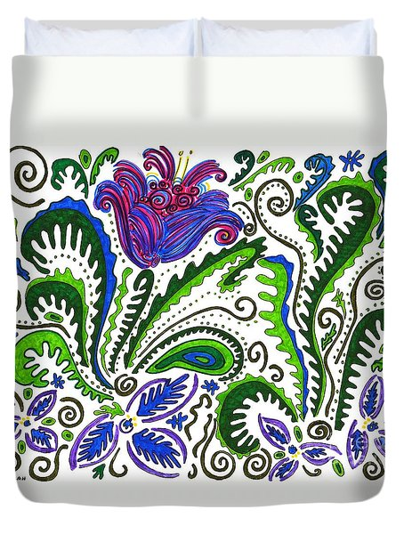 Deco Garden Duvet Cover by Sarah Loft