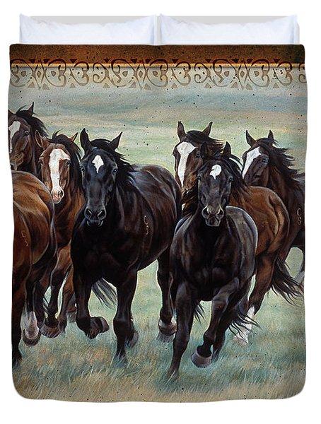 Deco Horses Duvet Cover by JQ Licensing