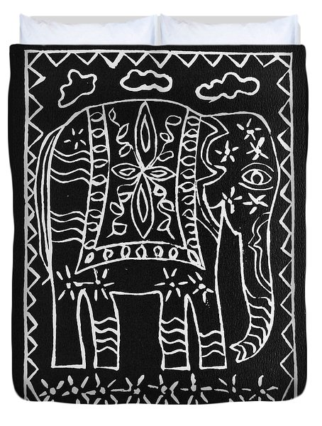 Decorated Elephant Duvet Cover by Caroline Street