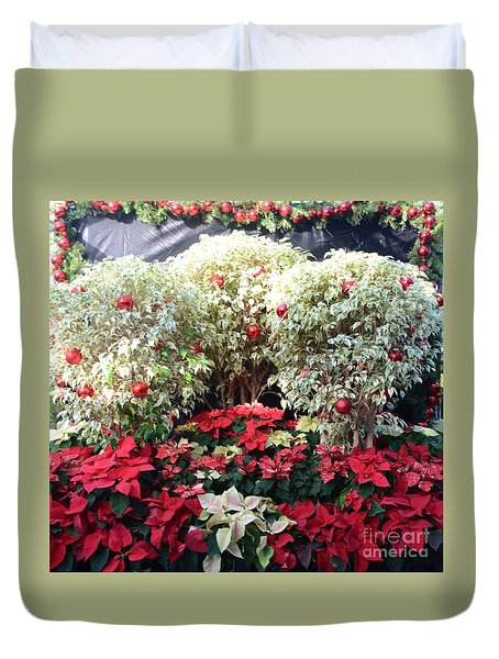 Decorated For Christmas Duvet Cover by Kathleen Struckle