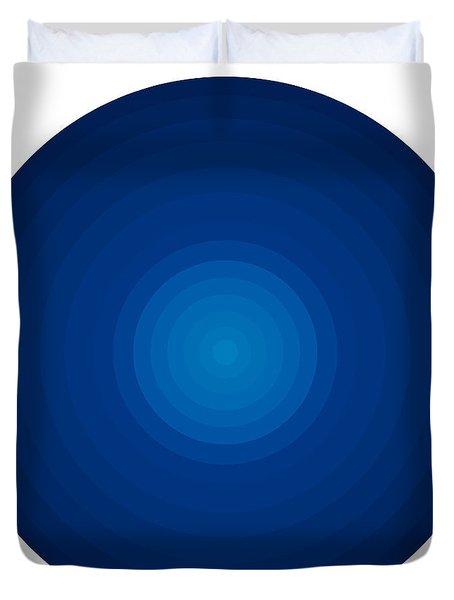 Deep Blue Circles Duvet Cover by Frank Tschakert