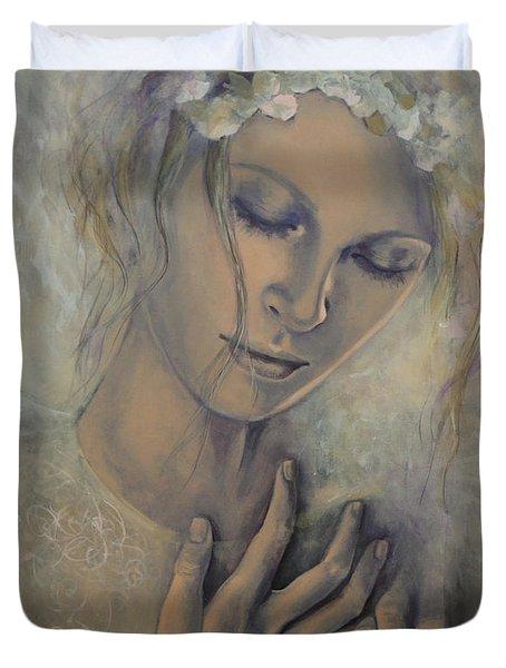 Deep Inside Duvet Cover by Dorina  Costras
