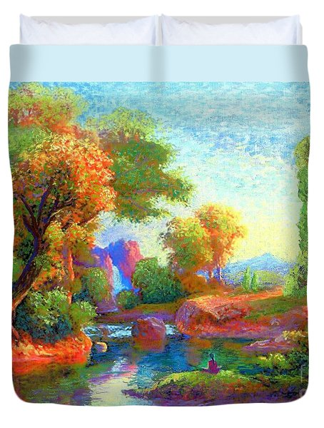 Deep Peace Duvet Cover by Jane Small