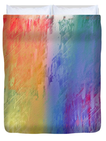 Deep Rich Sherbet Abstract Duvet Cover by Andee Design