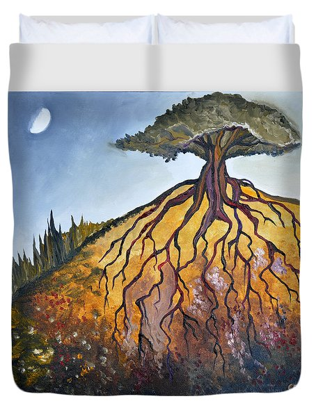 Deep Roots Duvet Cover by Cedar Lee