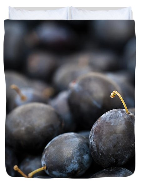 Deeply Damson Duvet Cover by Anne Gilbert