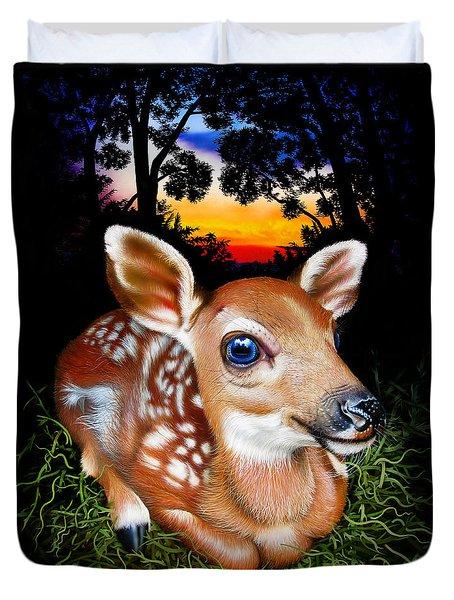 Deer Fawn Duvet Cover by Jurek Zamoyski
