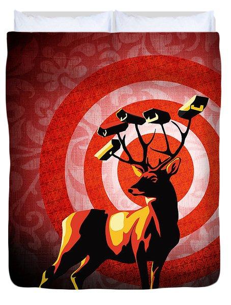 Deer Watch Duvet Cover by Sassan Filsoof